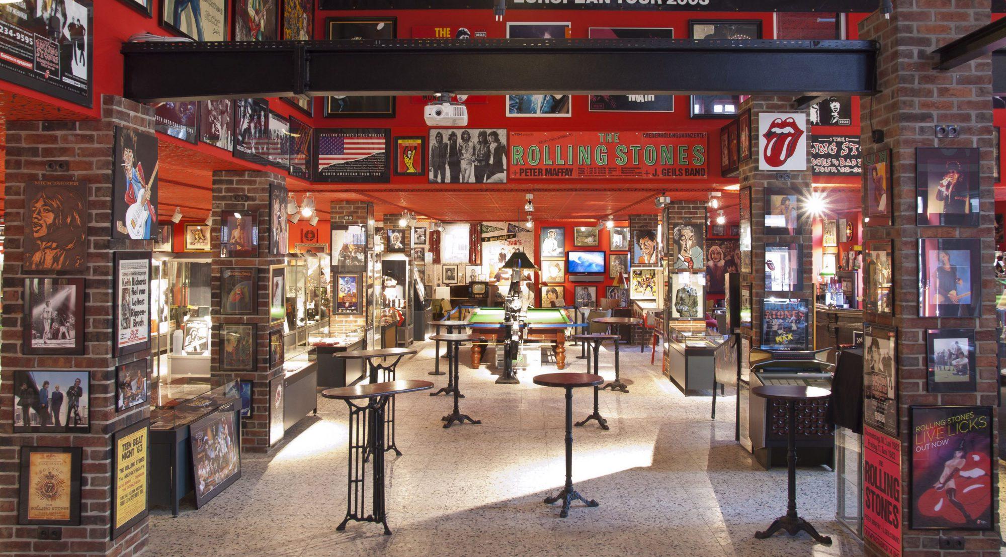 Innenansicht vom Stones-Fan-Museum in Lüchow
